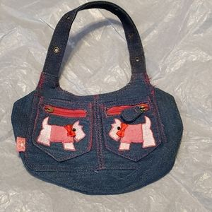Small  blue jean material purse